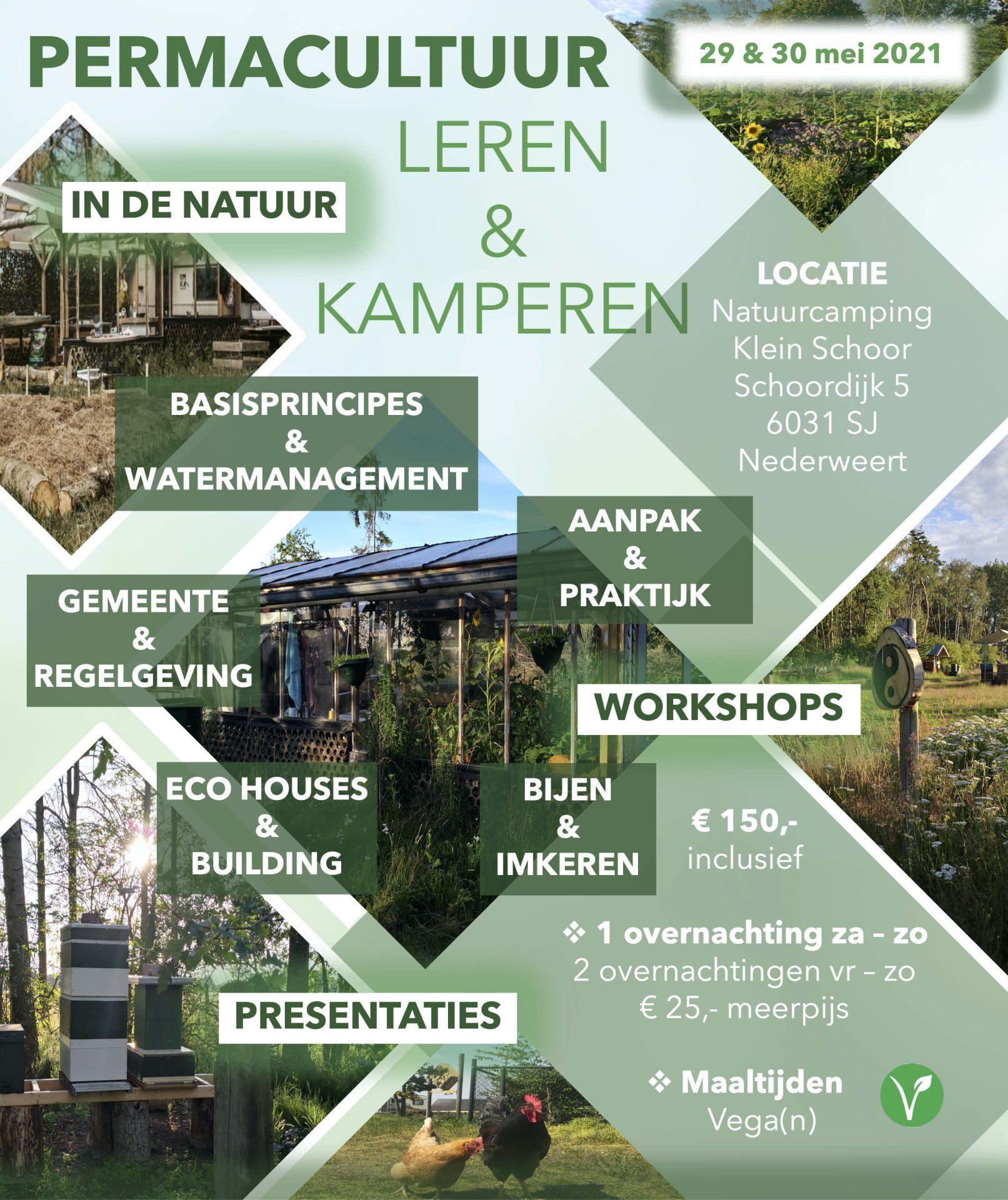 Permacultuur Leren Kamperen - Natuurcamping Klein Schoor Limburg