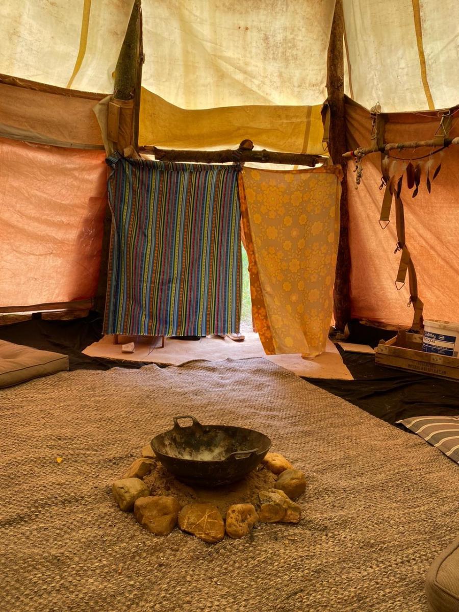 Tipi binnen - Camping Klein Schoor Limburg
